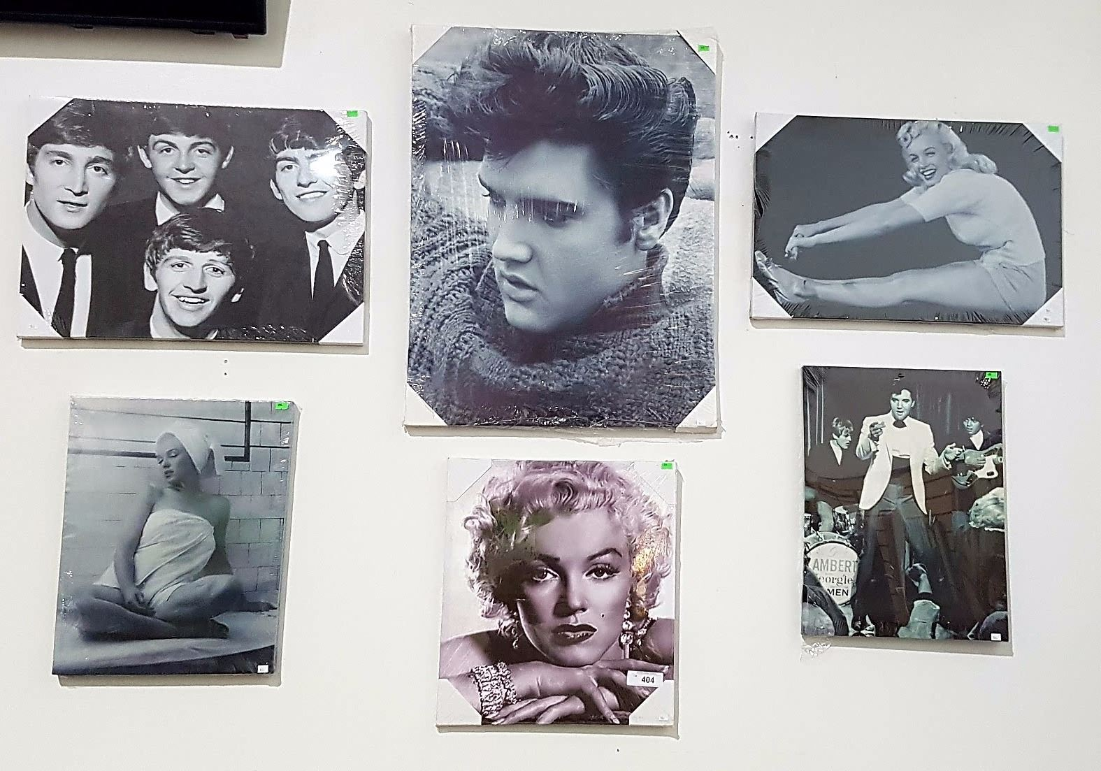 Elvis Marilyn Monroe Lot Of 6 New Marilyn Monroe Elvis Beatles Canvas Prints Grande