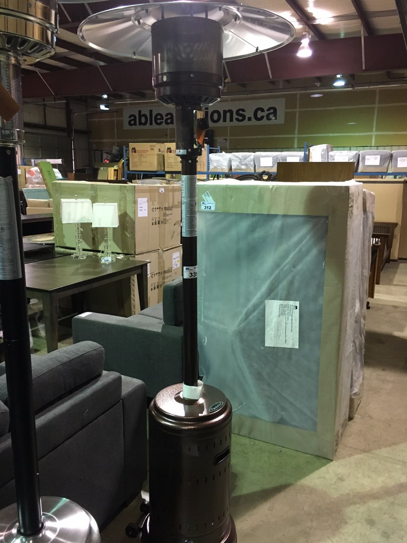 Paramount Bronze Propane Outdoor Patio Heater Able Auctions