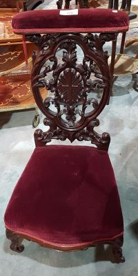 VICTORIAN PRAYER CHAIR - Grande Estate Auction