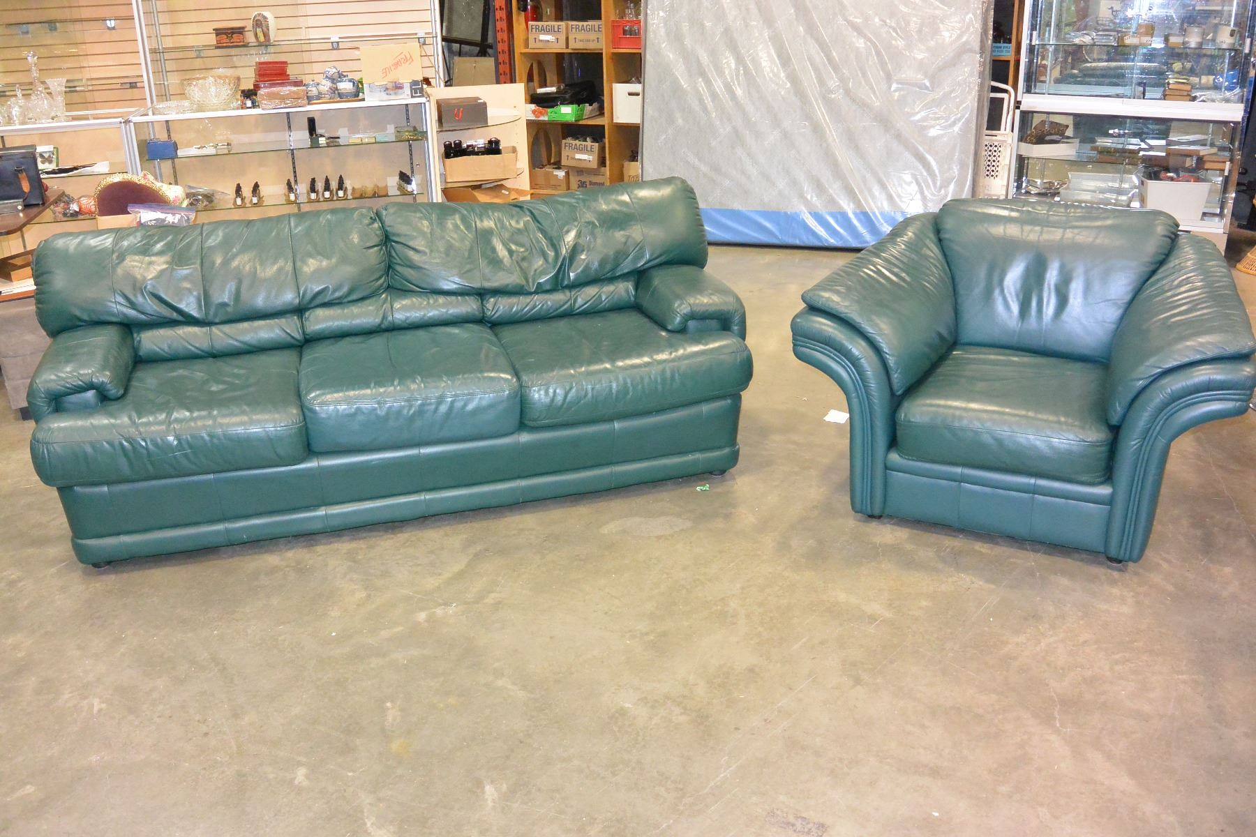 Leather Armchair Canada Green Leather Sofa And Armchair