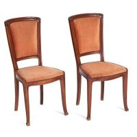 Art Nouveau chairs, pair