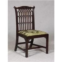 ANTIQUE MAHOGANY GOTHIC REVIVAL CHIPPENDALE CHAIR
