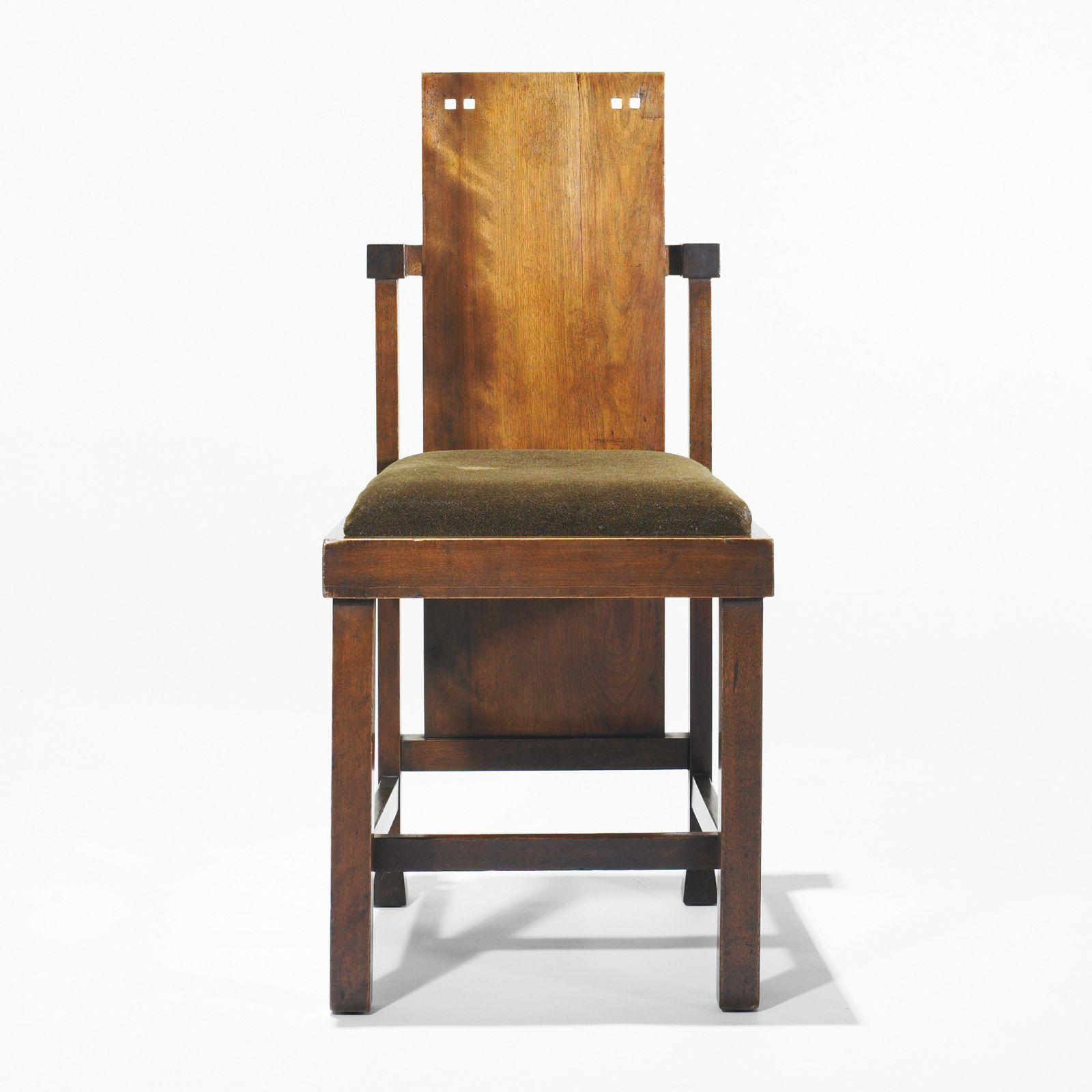 Frank Lloyd Wright chair from the Coonley Playhouse, Riverside