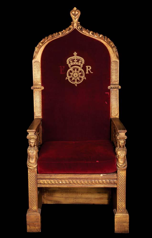 The virgin queen monumental royal dining table throne of