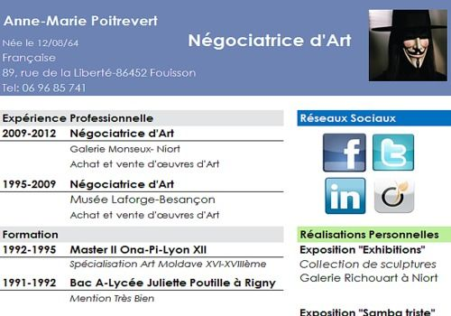 modele de cv simple gratuit