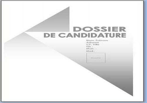 page de garde word cv a telecharger