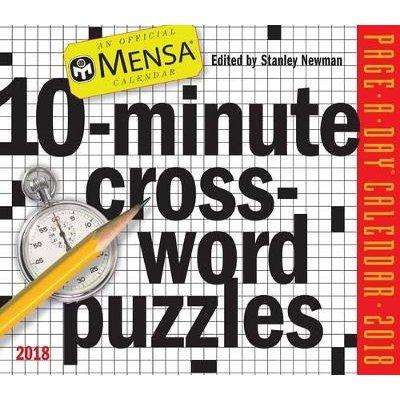 Mensa 10-Minute Crossword Puzzles Page-A-Day Calendar 2018 (Calendar