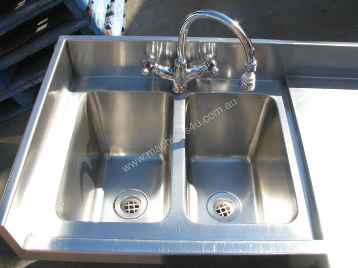 Used Large Long Commercial Stainless Steel Corner Sink