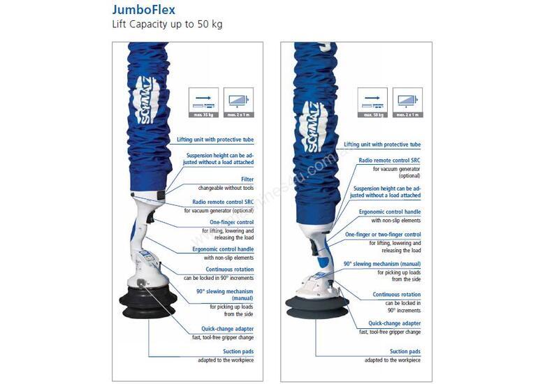 New 2016 Schmalz Jumbo Flex Tube Vacuum Lifters In