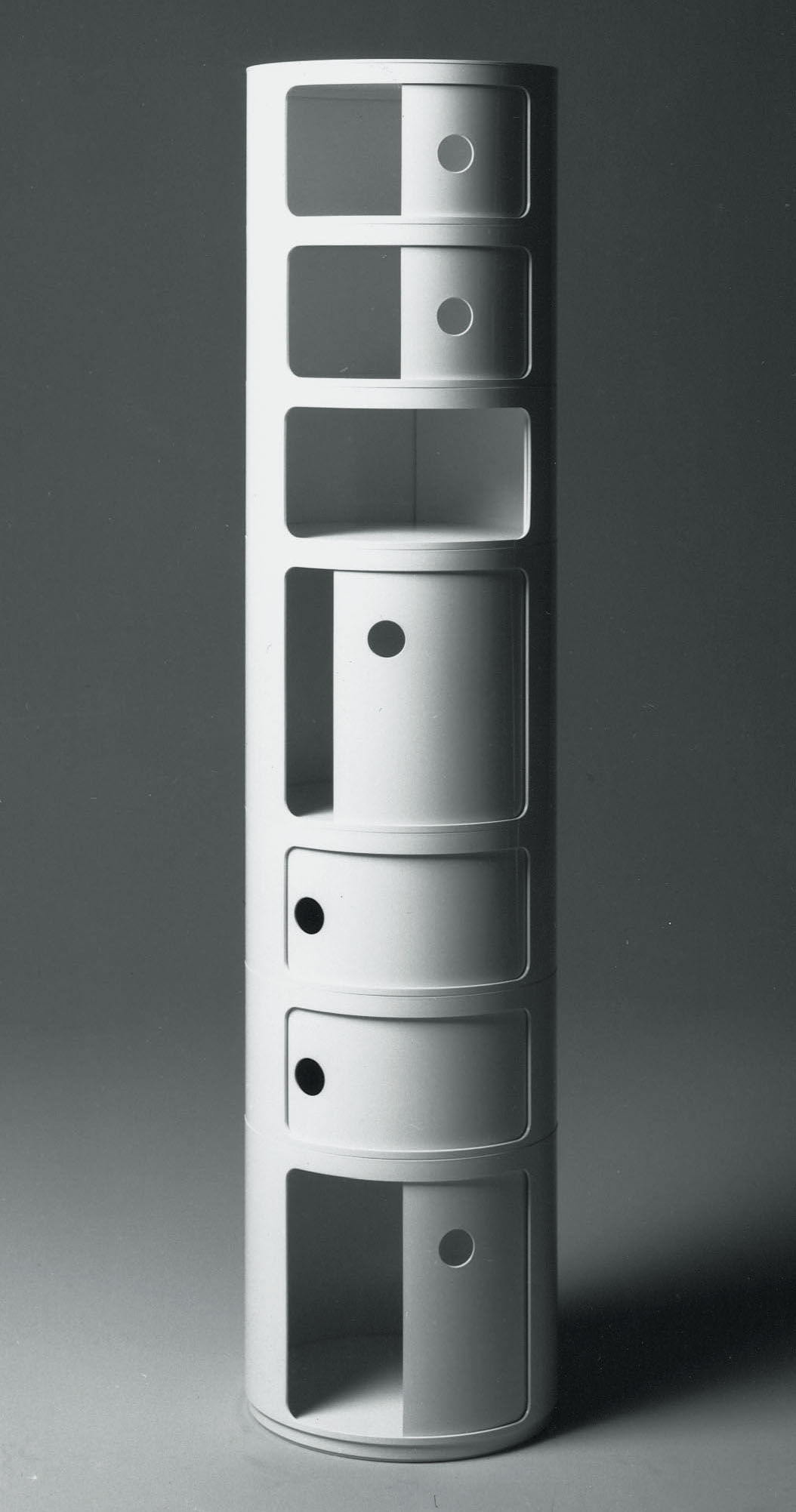 Meuble Compo Componibili Storage - 2 Elements Ivory White By Kartell
