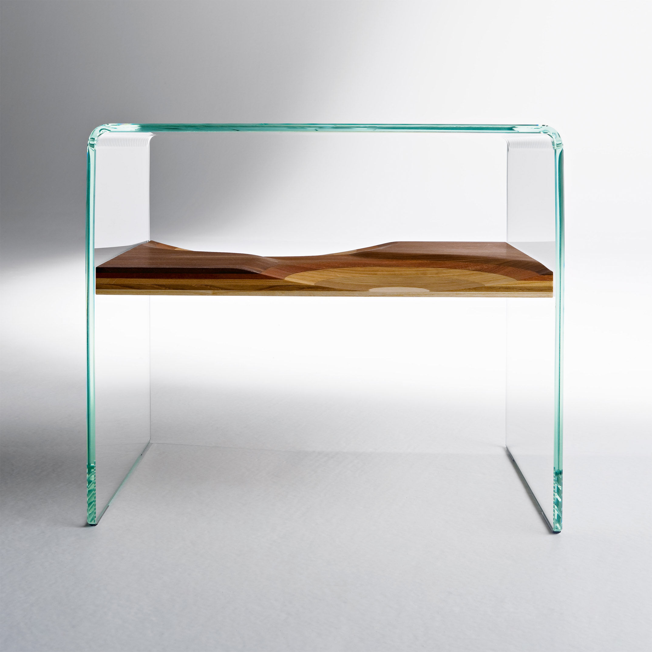 Table De Chevet Verre Table De Chevet Bifronte Transparent Horm Made In Design