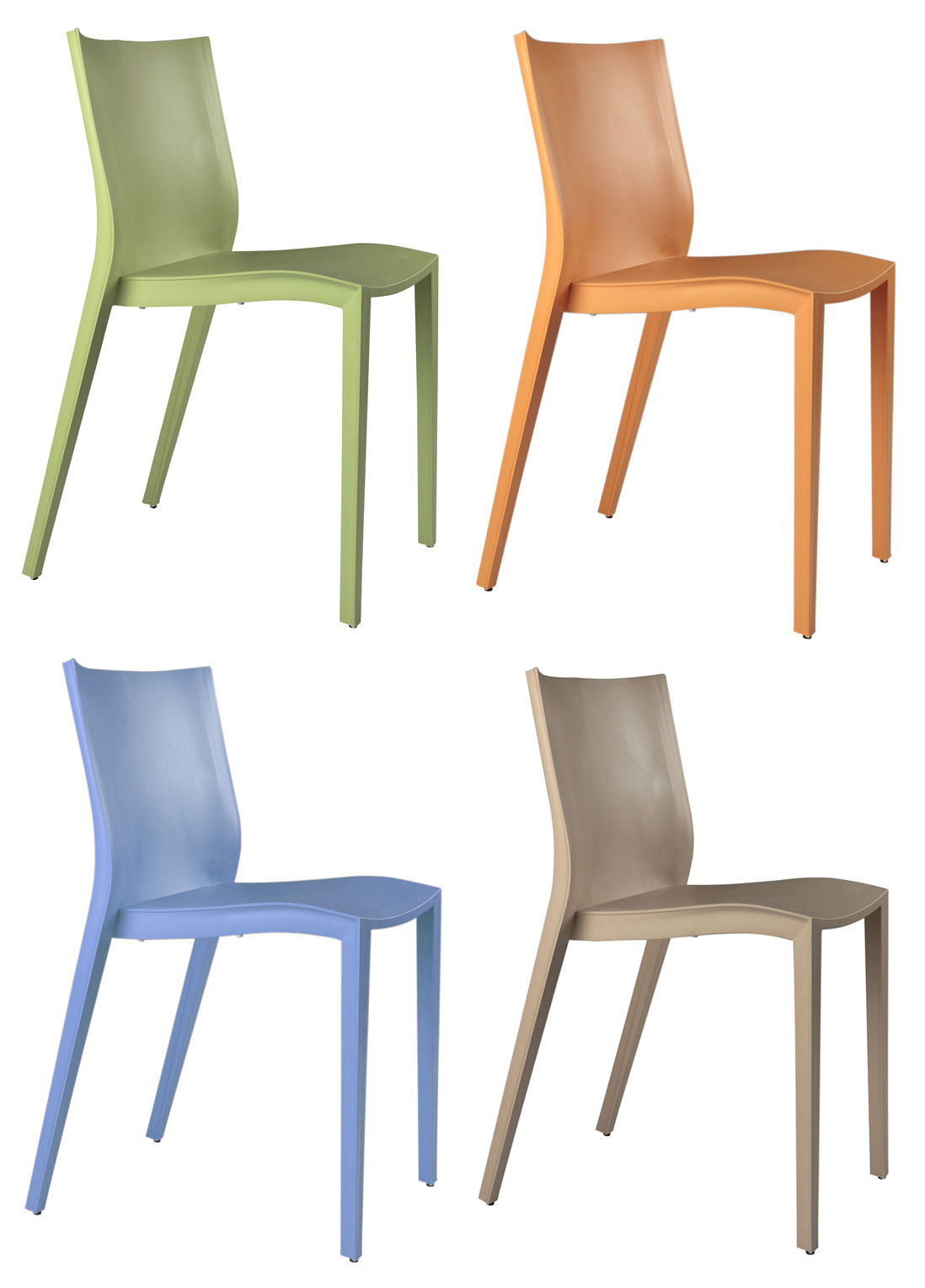 Chaise Slick Slick Starck Miniature Mini Slick Slick Lot De 4 Chaises Vert Orange