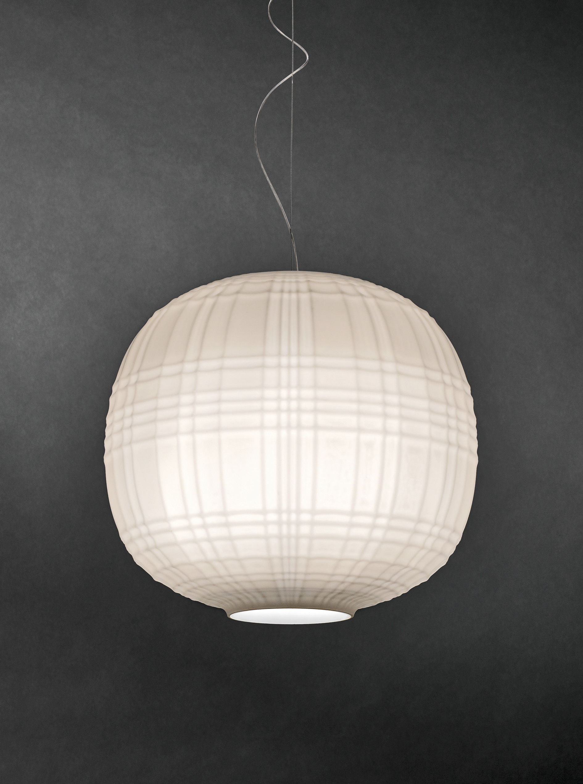 Jb Lighting Varyled A7 Zoom Tartan Pendant Ø 35 Cm White By Foscarini