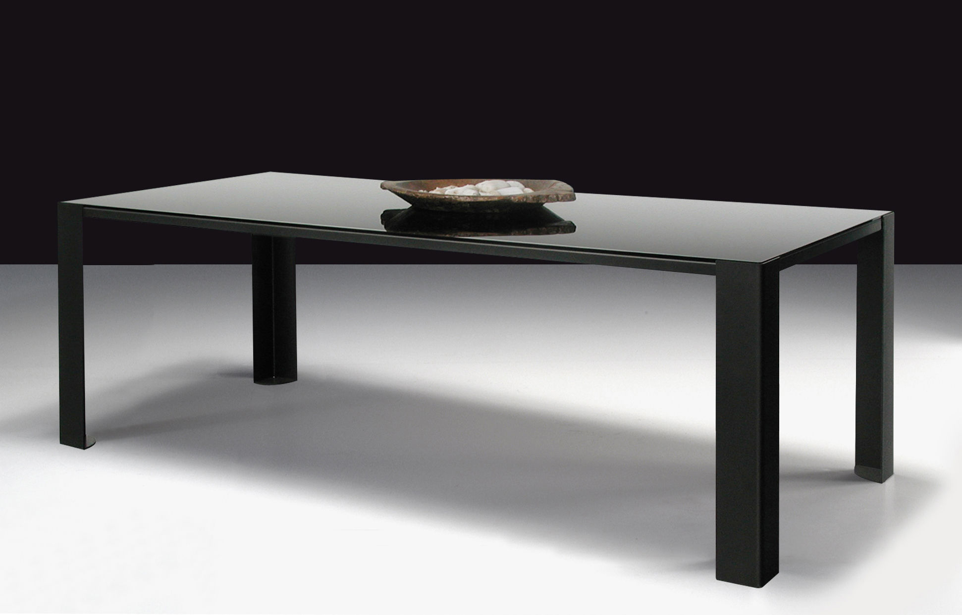 Black glass table top designs