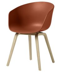 About a chair AAC22 Armchair - Plastic & wood legs Orange ...