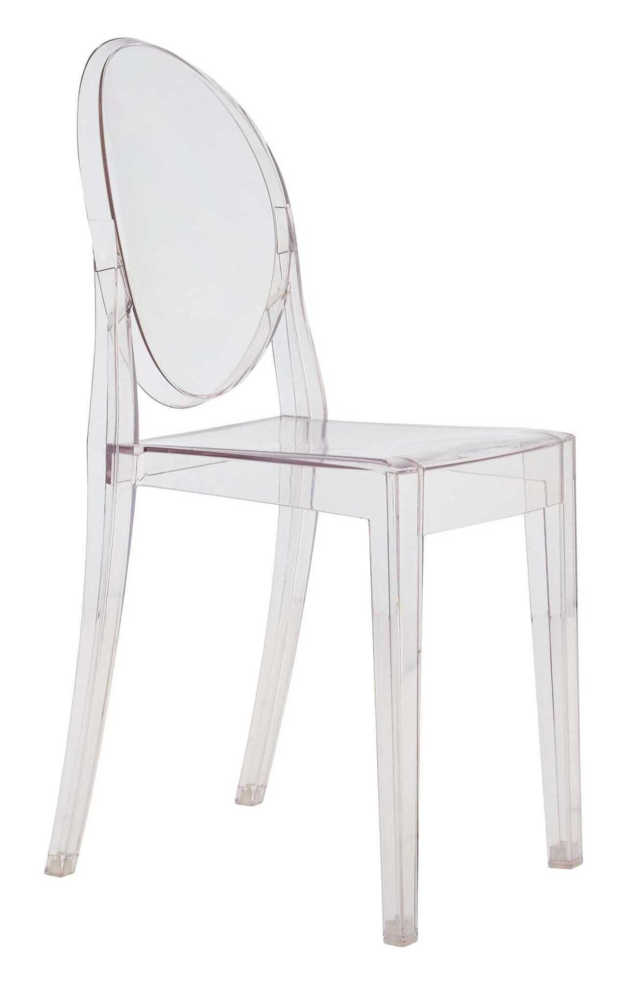 Chaises Polycarbonate Starck Chaise Empilable Victoria Ghost Transparente