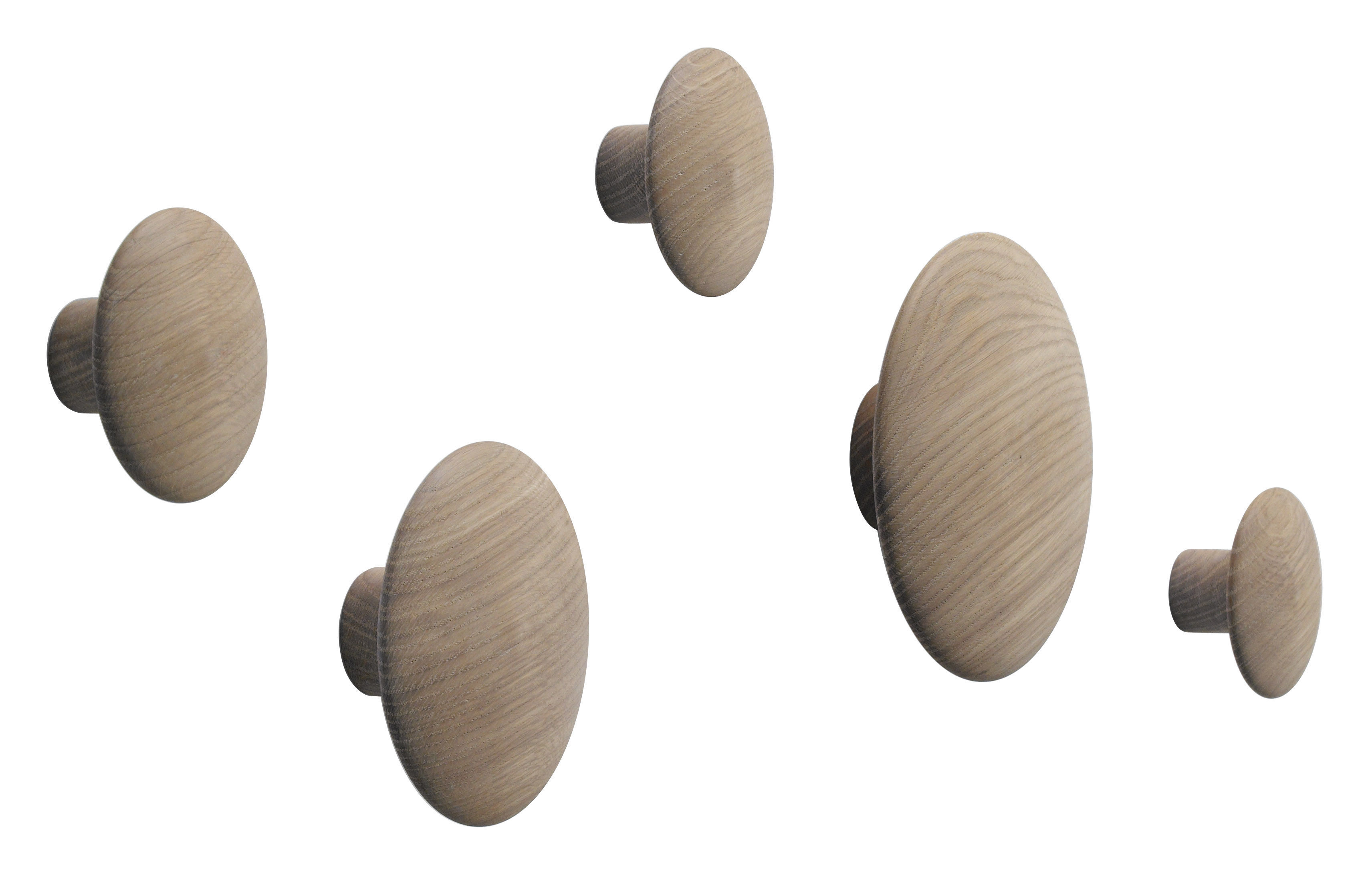Patere Ikea Patère The Dots Set De 5 Chêne Naturel Muuto