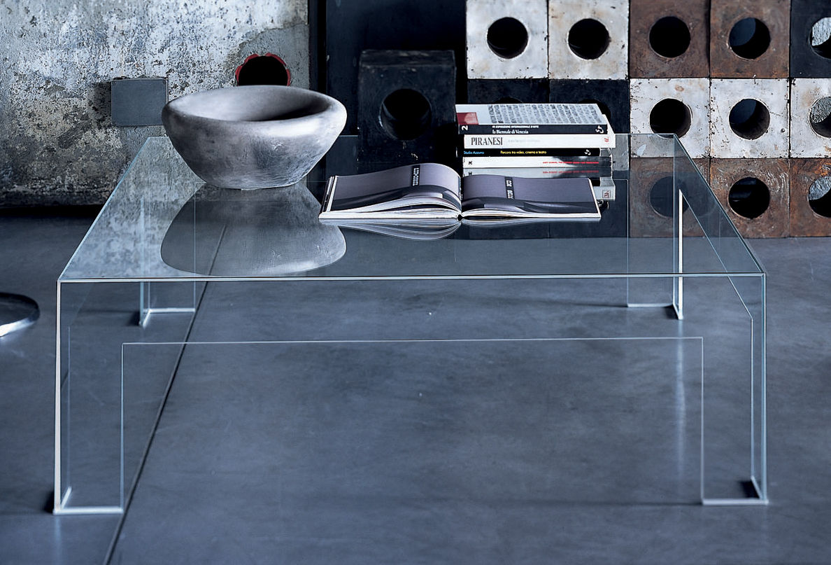 Couchtisch Square Table Basse Atlantis Plateau Carré : 80 X 80 Cm - Glas Italia