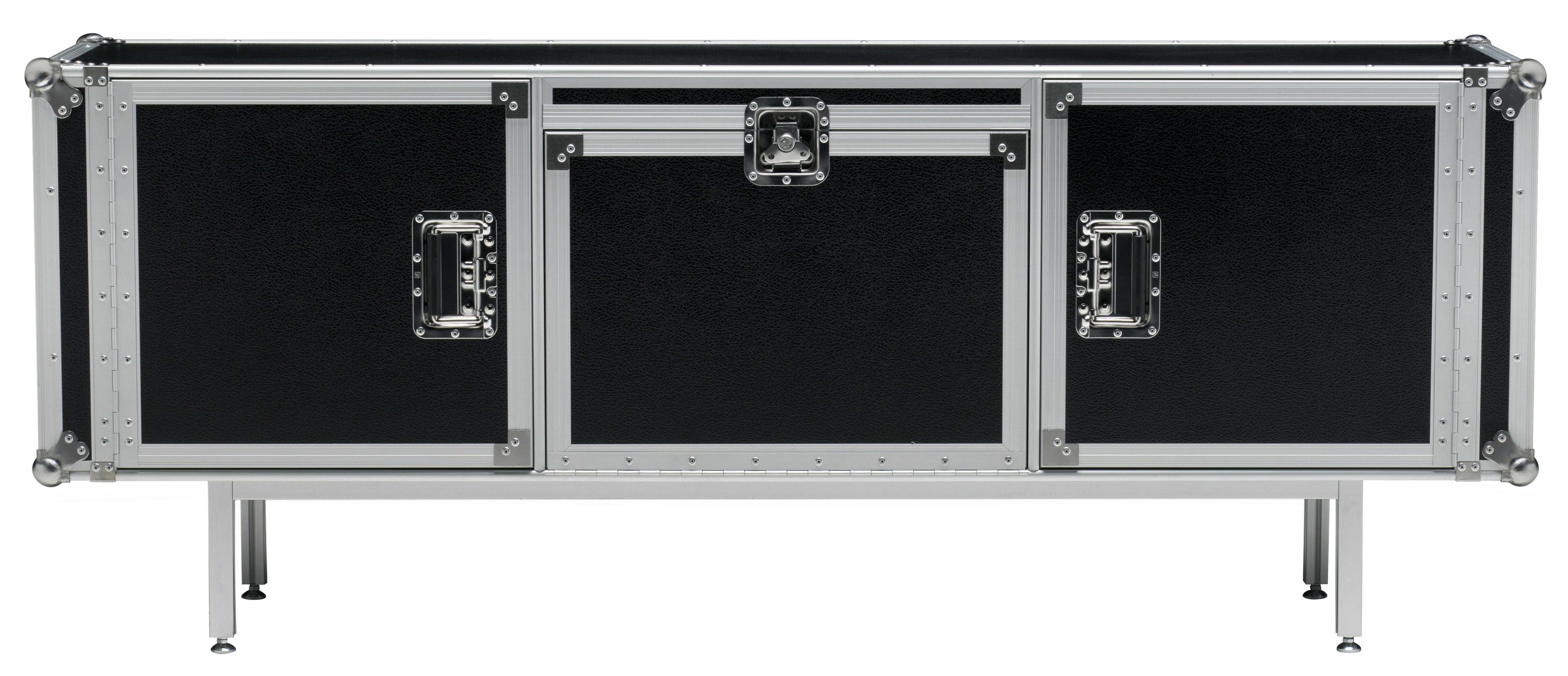 Marque De Meuble Design Buffet Total Flightcase L 180 Cm Noir - Diesel With Moroso