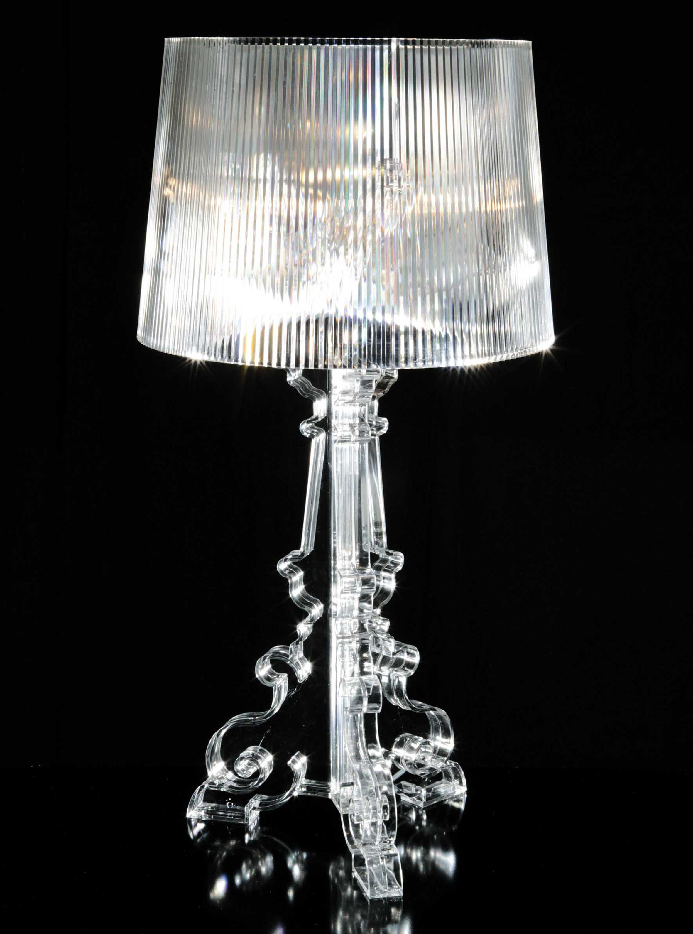 Kartell Lamp Bourgie Table Lamp Crystal By Kartell