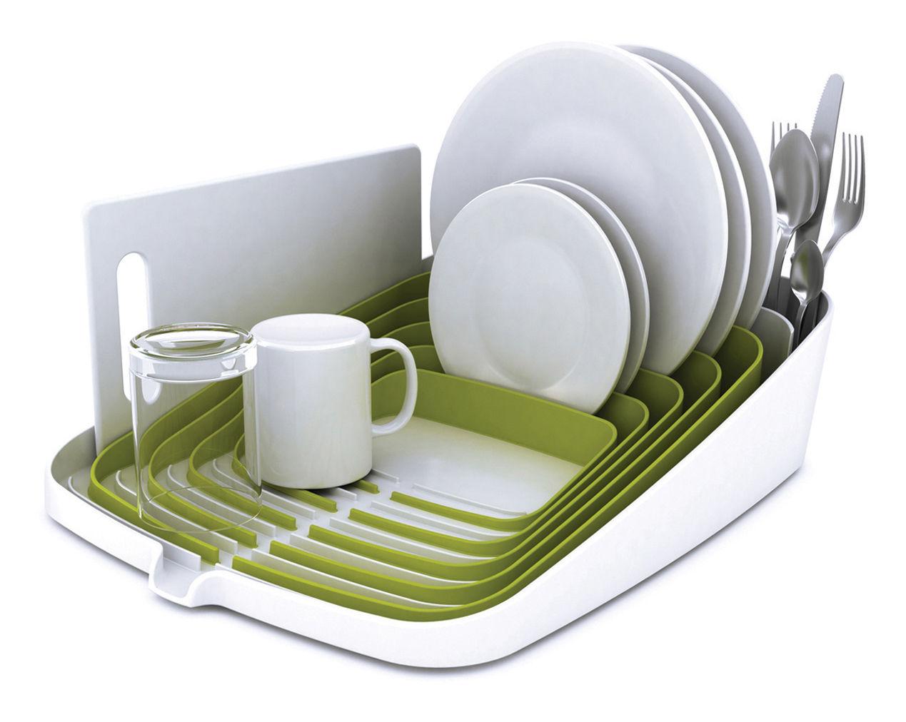 Arena Draining Rack Dish Drainer Green White By Joseph