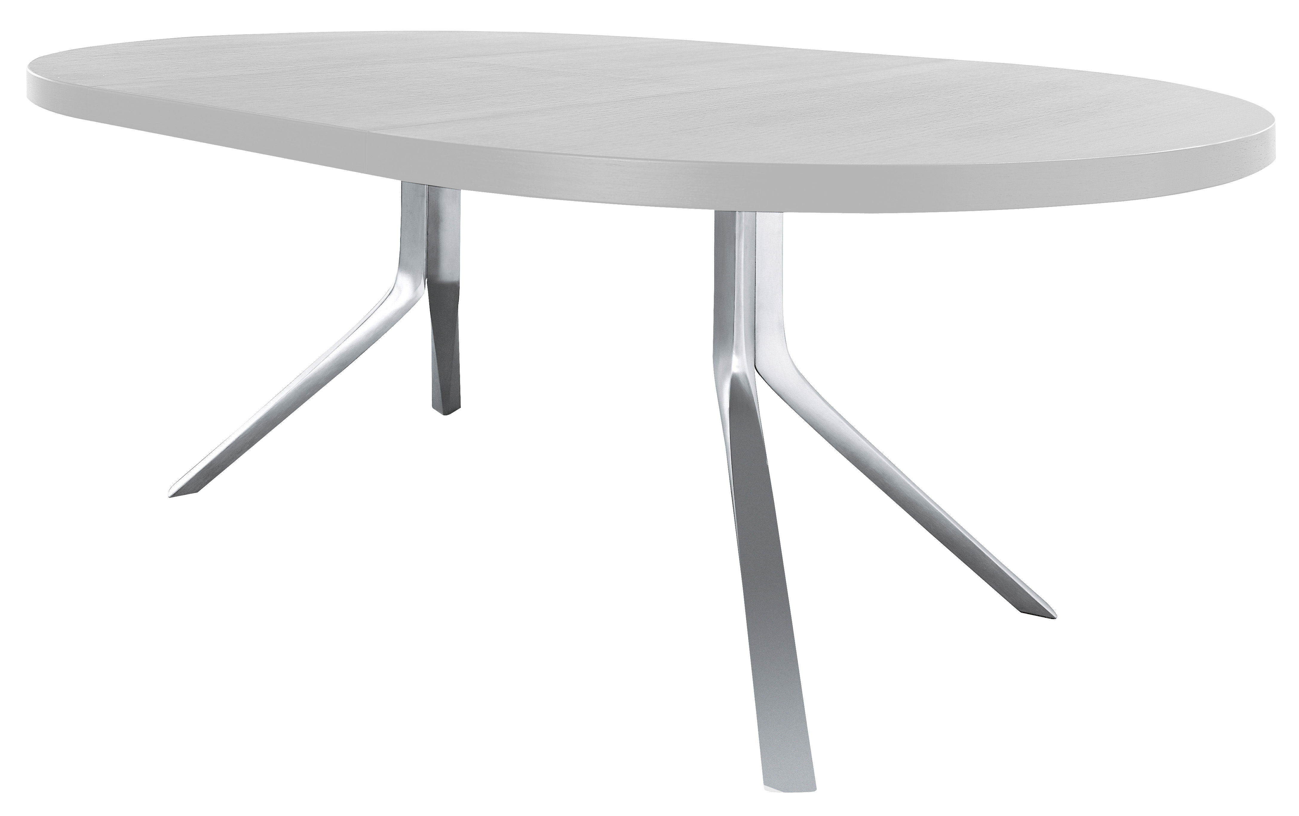 Table à Rallonge Design Table à Rallonge Oops L 125 à 180 Cm Blanc Pieds