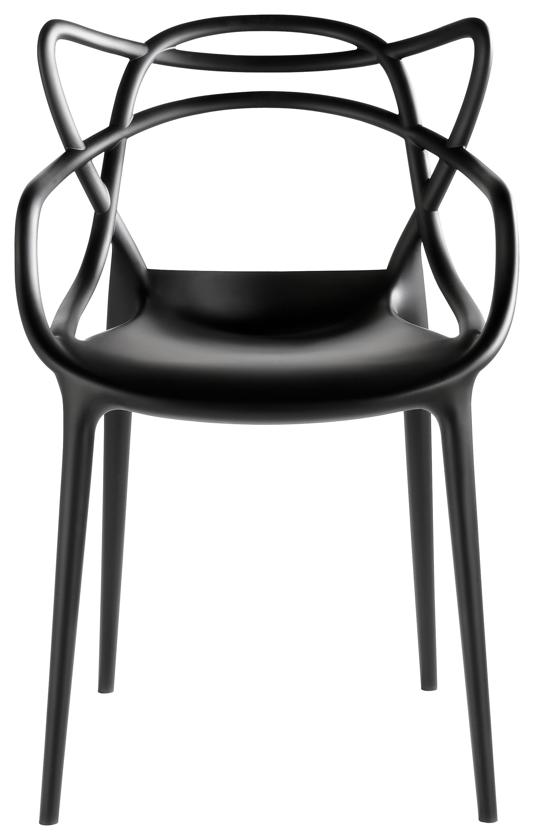 Chaises Masters Starck Fauteuil Masters Kartell Plastique Noir Made In Design