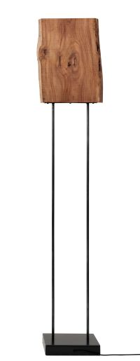 Old Times Floor lamp Natural wood / Black leg by Zeus ...