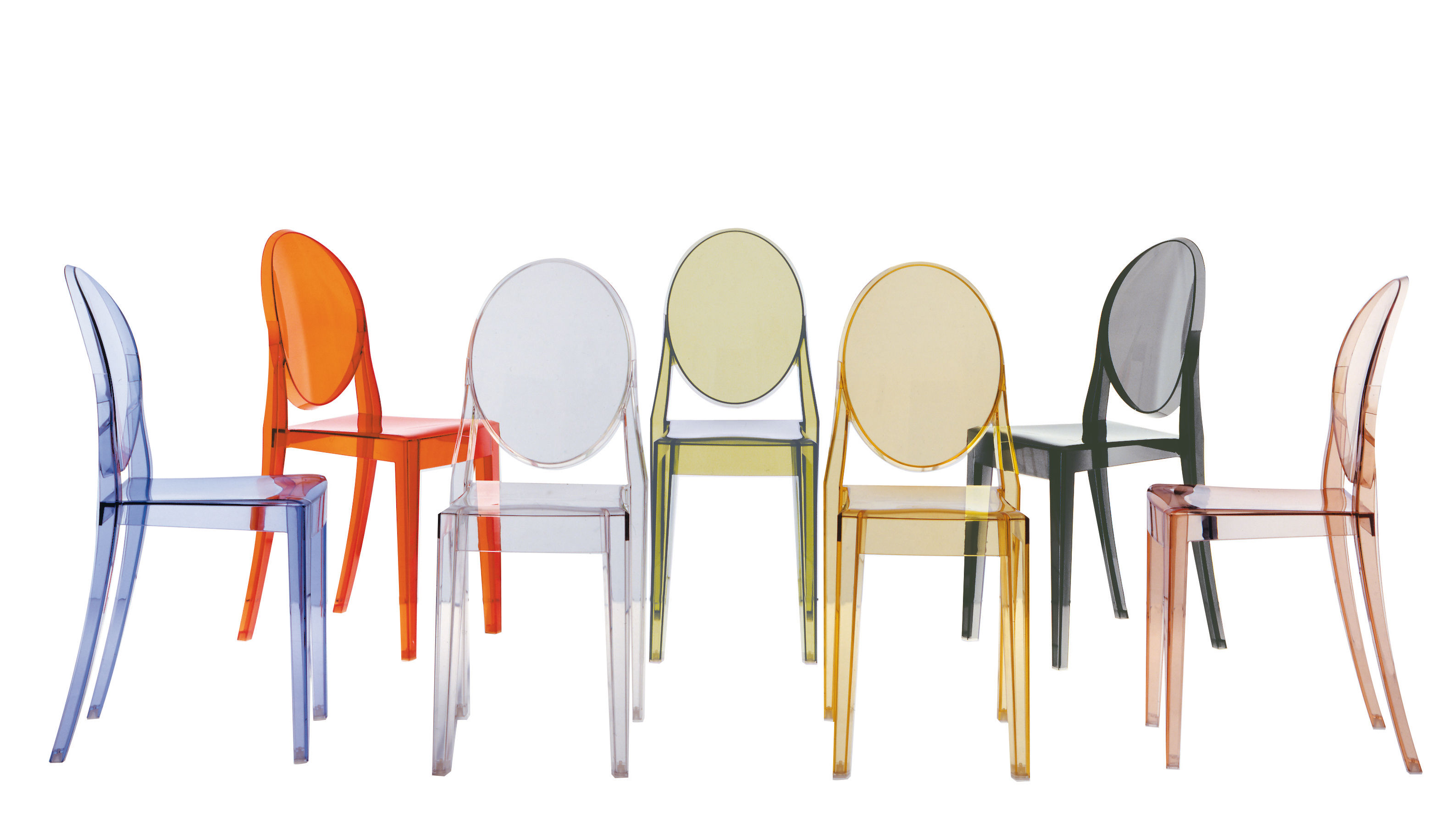 Chaises Design Transparentes Chaise Empilable Victoria Ghost Transparente Polycarbonate Kartell