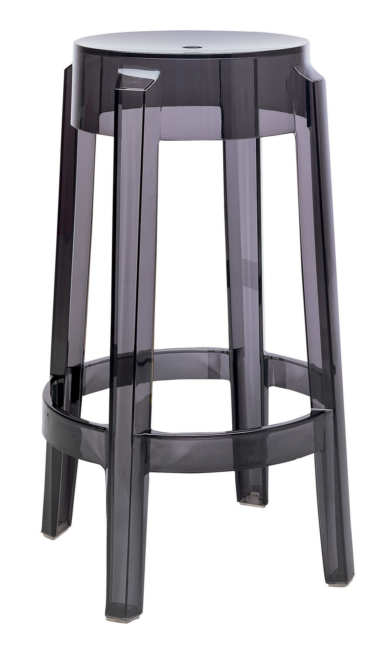 Tabourets De Bar Empilable Tabouret Haut Empilable Charles Ghost Kartell Fumé H
