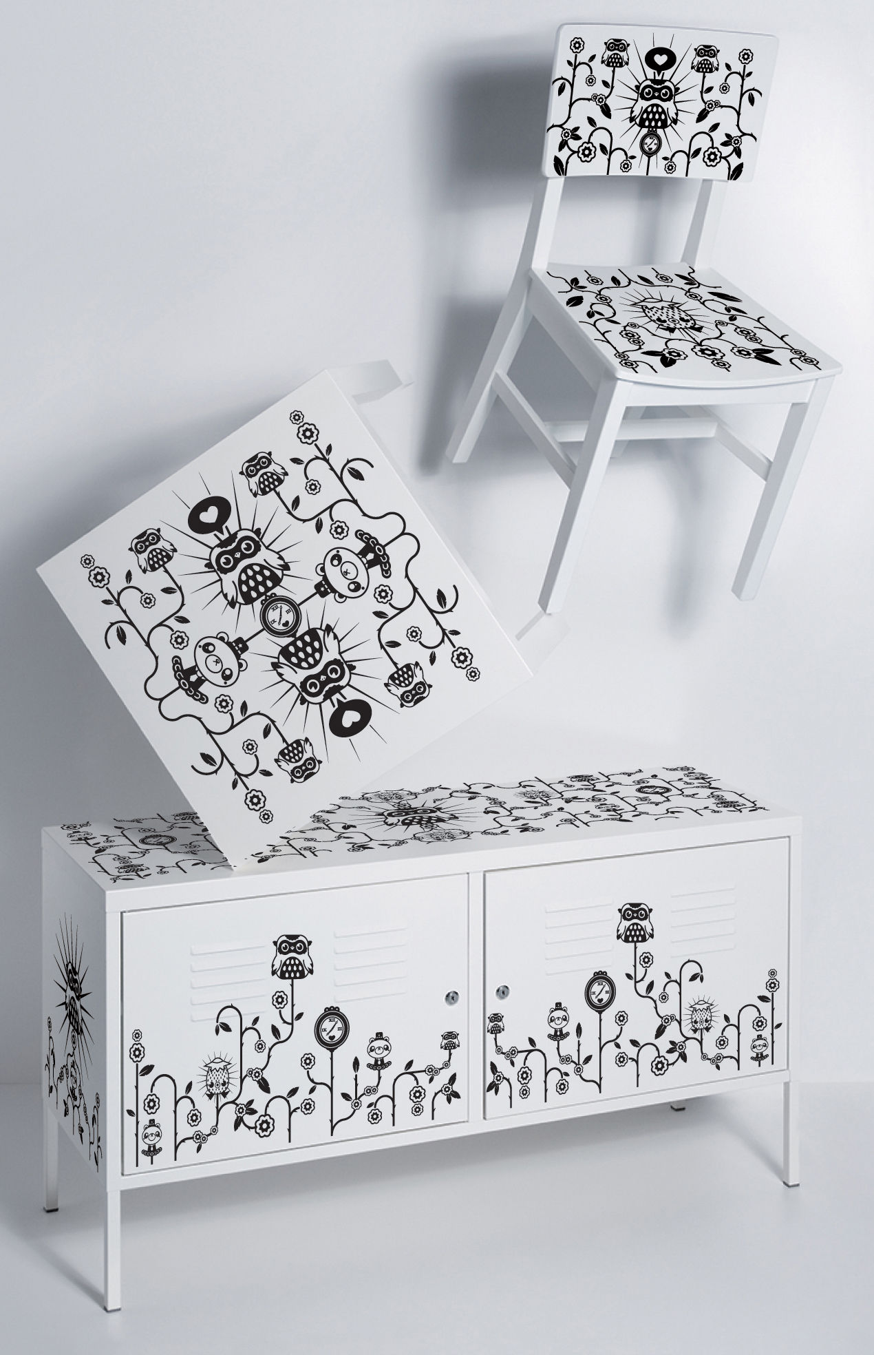 Vinyl Deco Meuble Sticker De Meuble Par Tado Pour Commode Domestic