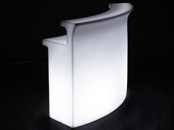 Mobilier Exterieur Kartell Bar Lumineux Break Bar Slide - Blanc | Made In Design
