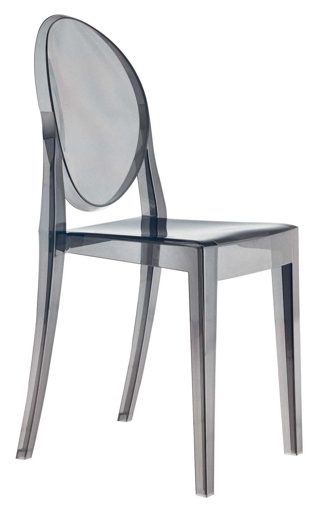 Chaises Polycarbonate Starck Chaise Empilable Victoria Ghost Kartell Fumé L 38 X H