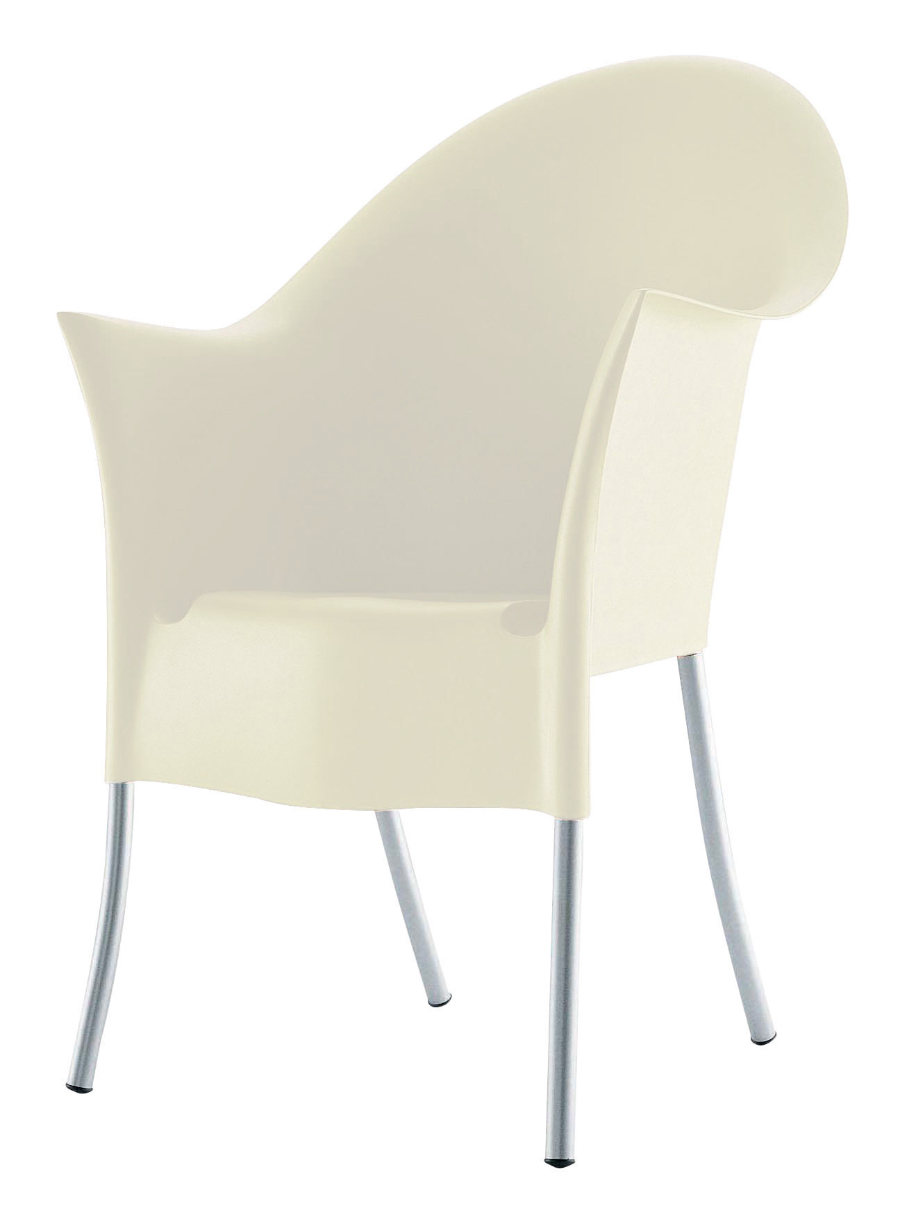 Couvre Chaise Malin Fauteuil Empilable Lord Yo Plastique Pieds Métal Driade