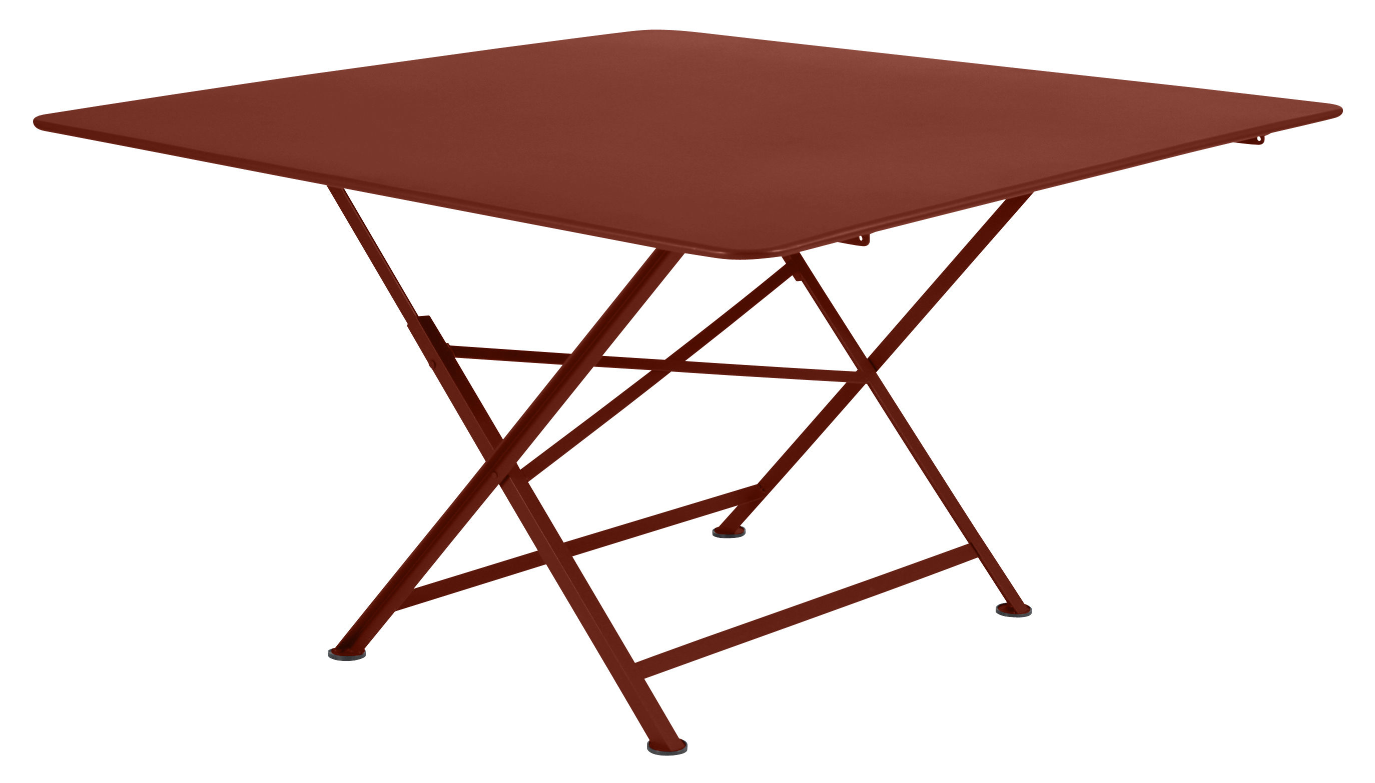 Table De Jardin Rouge Table Pliante Cargo 128 X 128 Cm Fermob