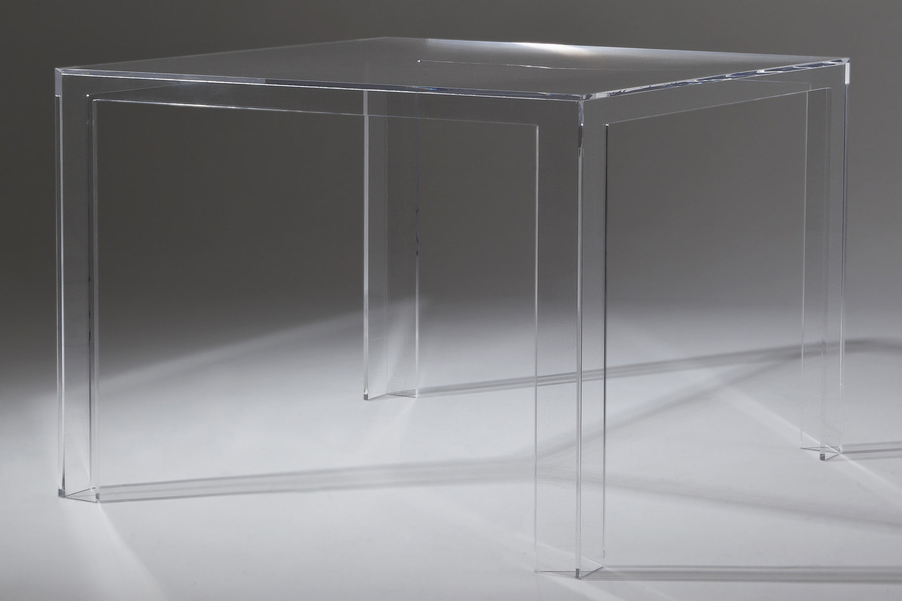 Kartell Couchtisch Invisible Invisible Square Table H 72 Cm By Kartell