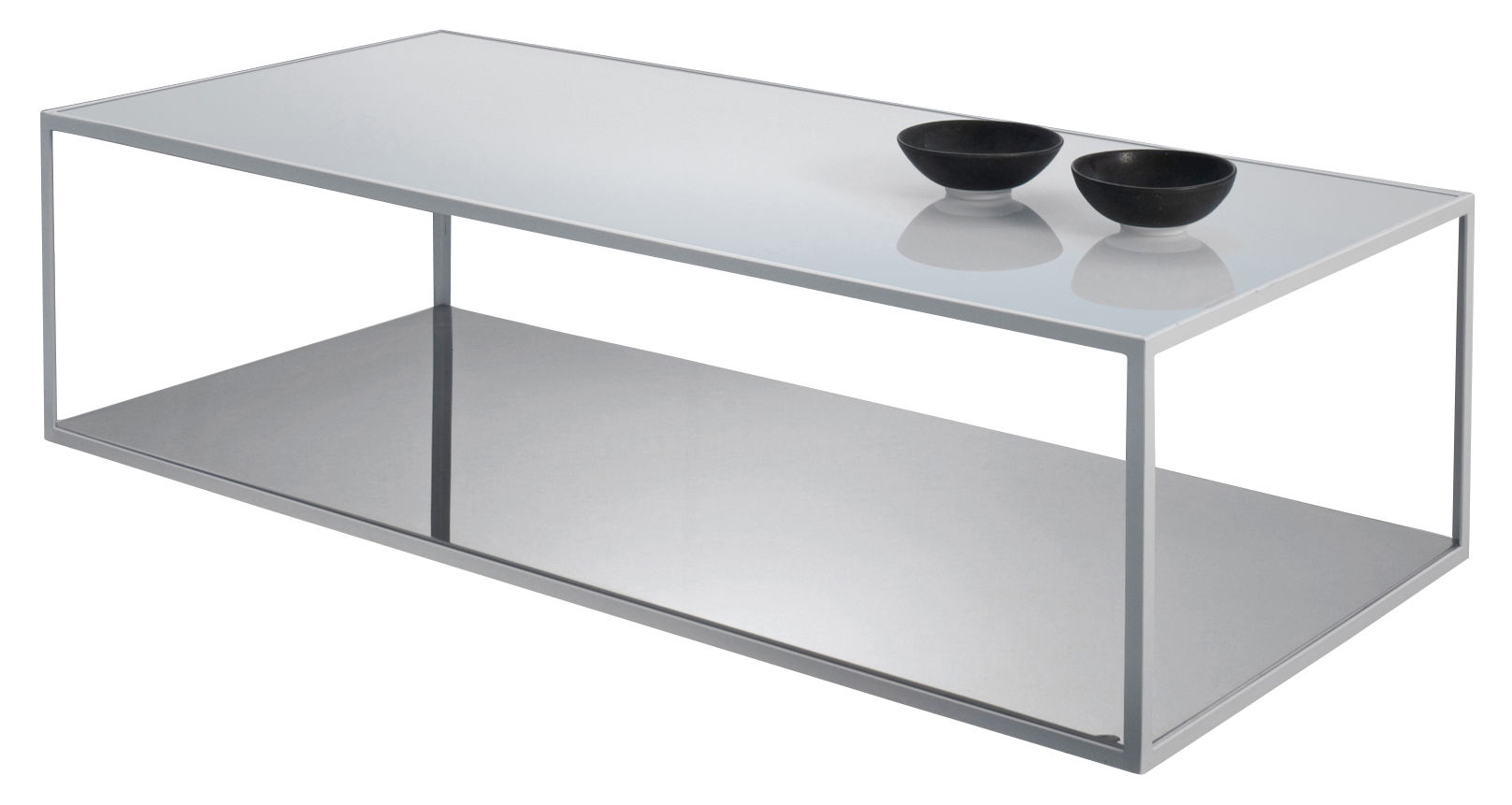 Table De Salon Verre Table Basse Double Skin Zeus
