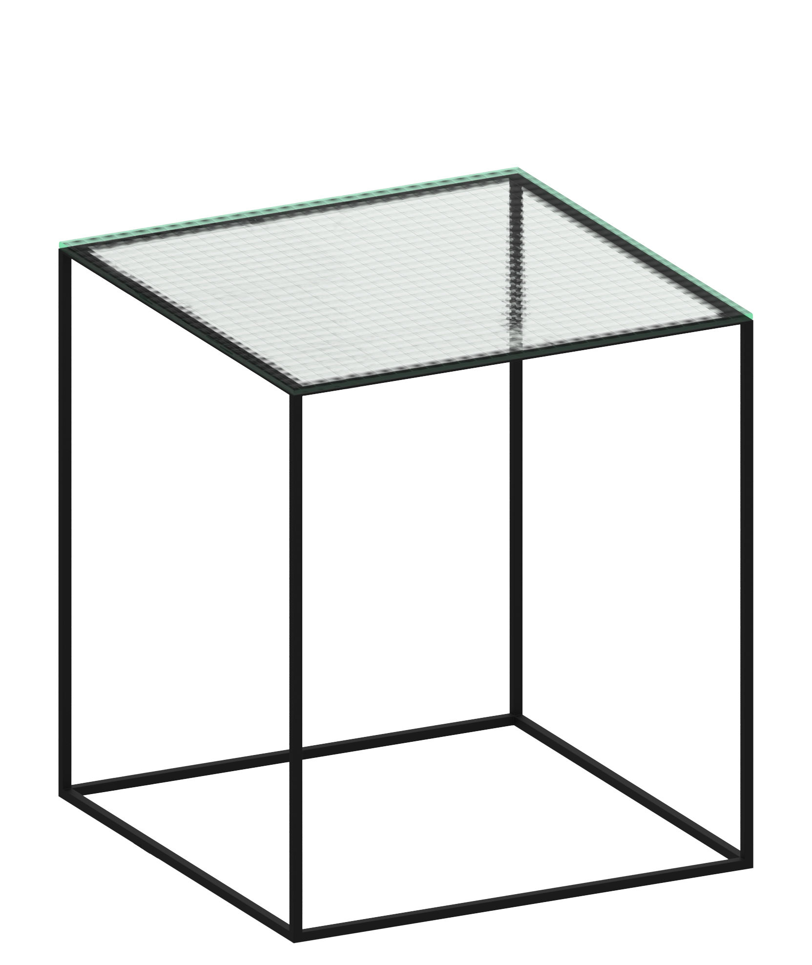 Table Appoint Verre Table D Appoint Slim Irony 41 X 41 X H 46 Cm Verre Armé Zeus