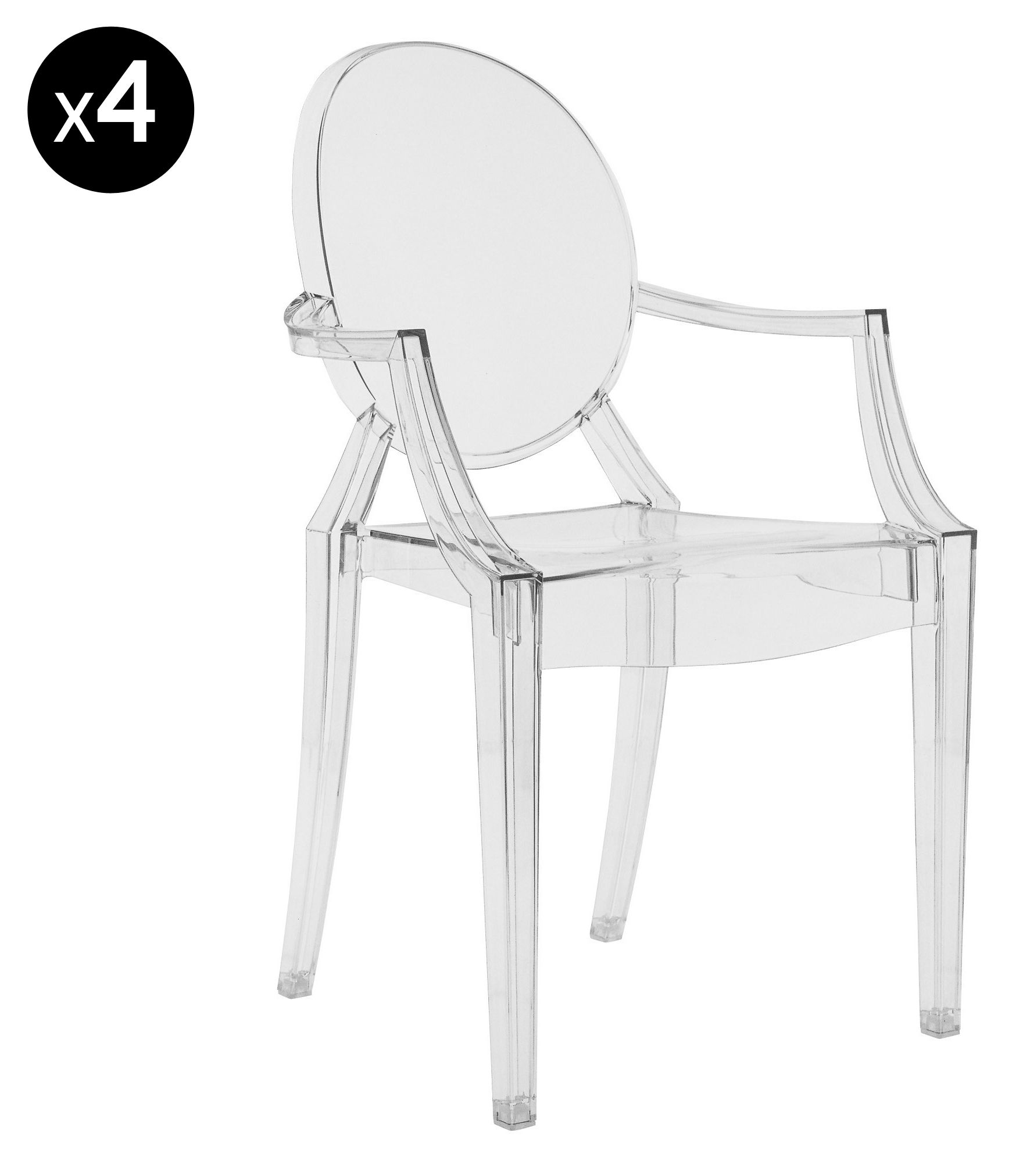 Fauteuil Ghost Fauteuil Empilable Louis Ghost Lot De 4 Kartell