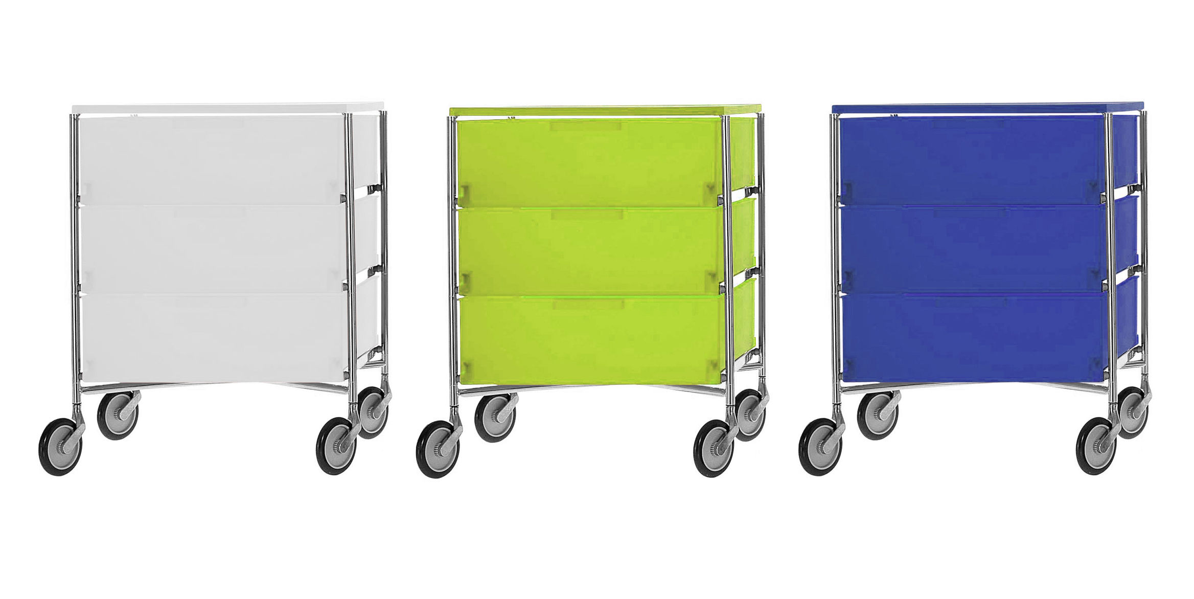 Kartell Container Mobil Mobile Container With 3 Drawers By Kartell