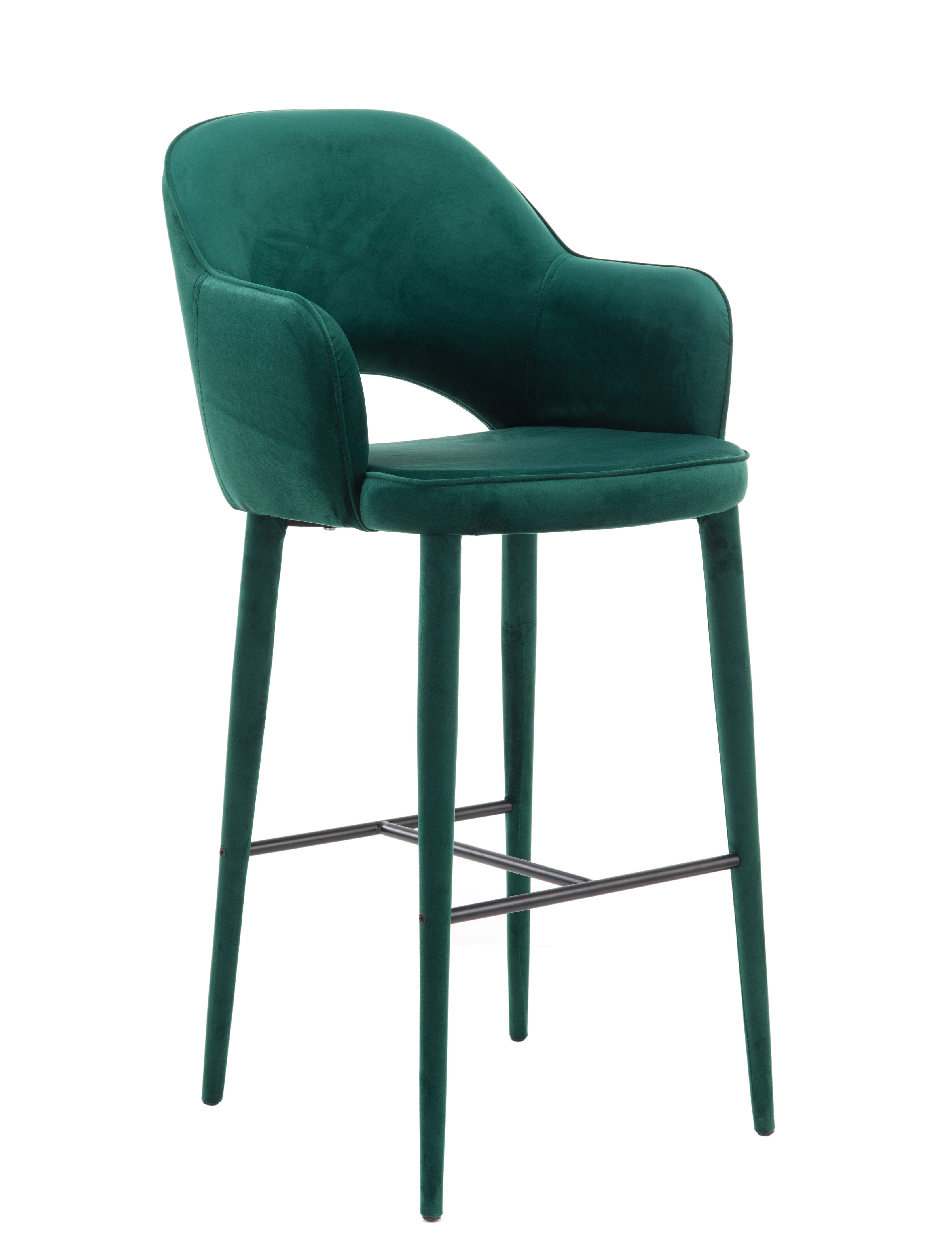 Tabourets Bar Verts Chaise De Bar Cosy Velours H 75 Cm Pols Potten