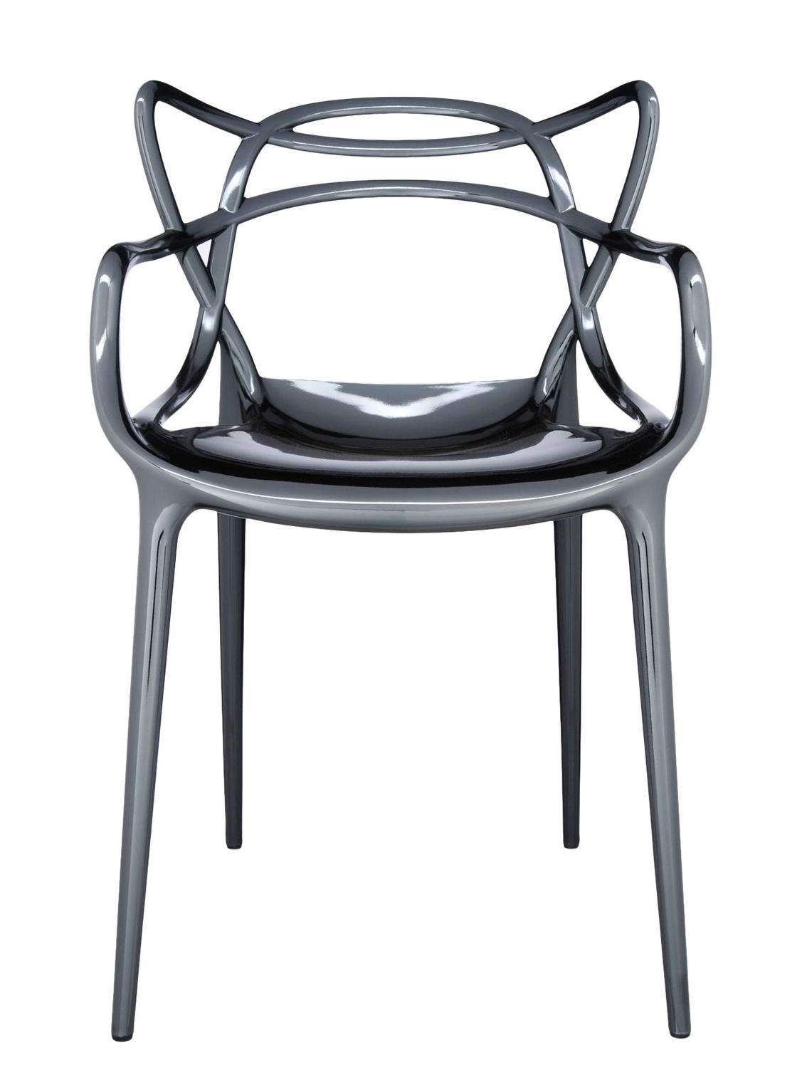 Chaises Masters Kartell Fauteuil Empilable Masters Kartell - Titane - L 57 X H 84
