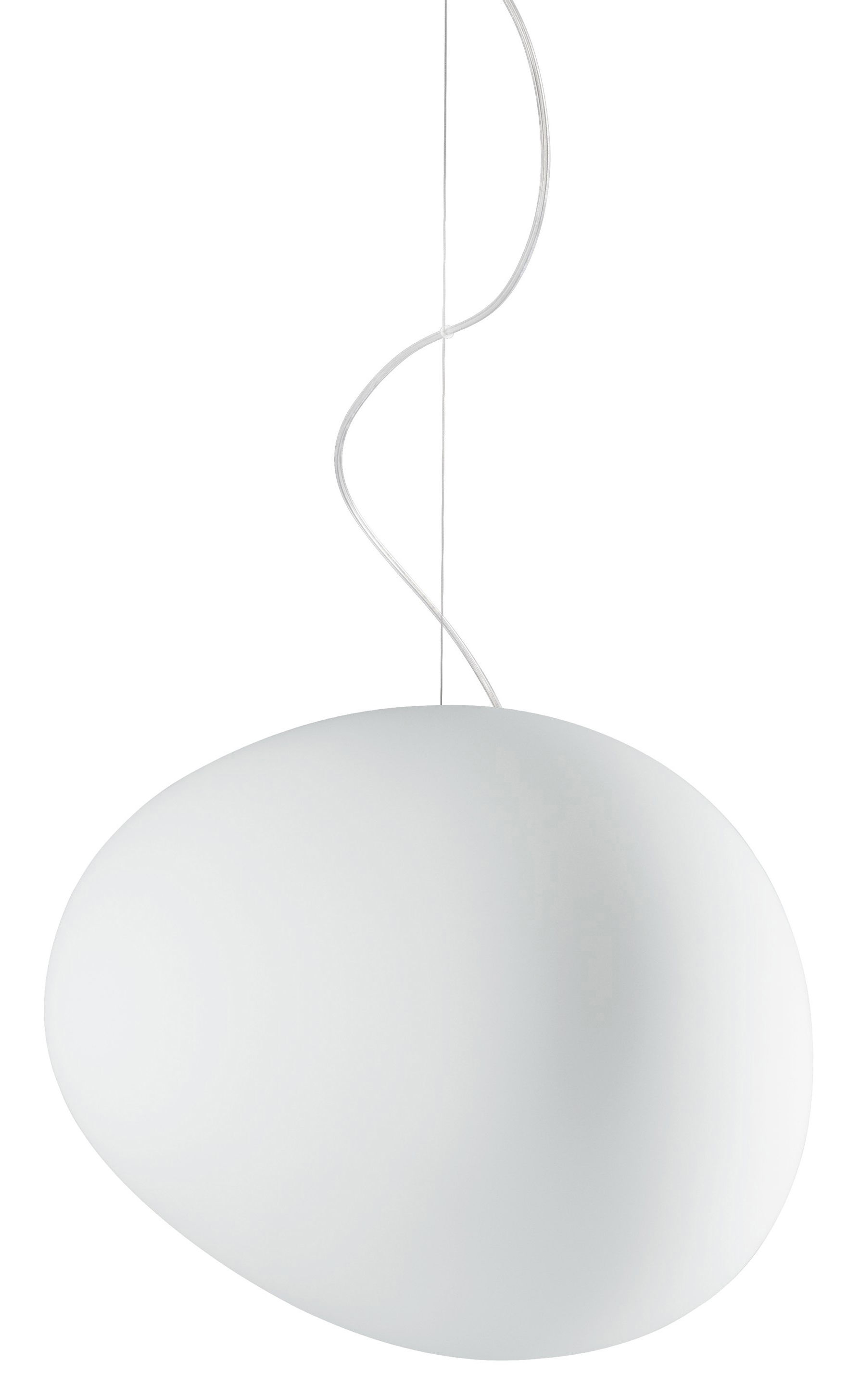 Grande Suspension Luminaire Suspension Gregg Grande Verre L 47 Cm Blanc