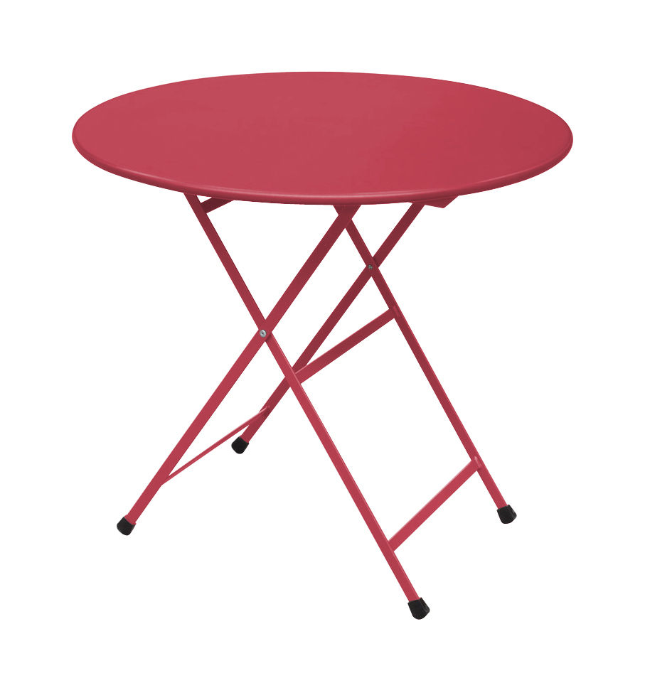 Table De Jardin Rouge Table Pliante Arc En Ciel Ø 80 Cm Emu