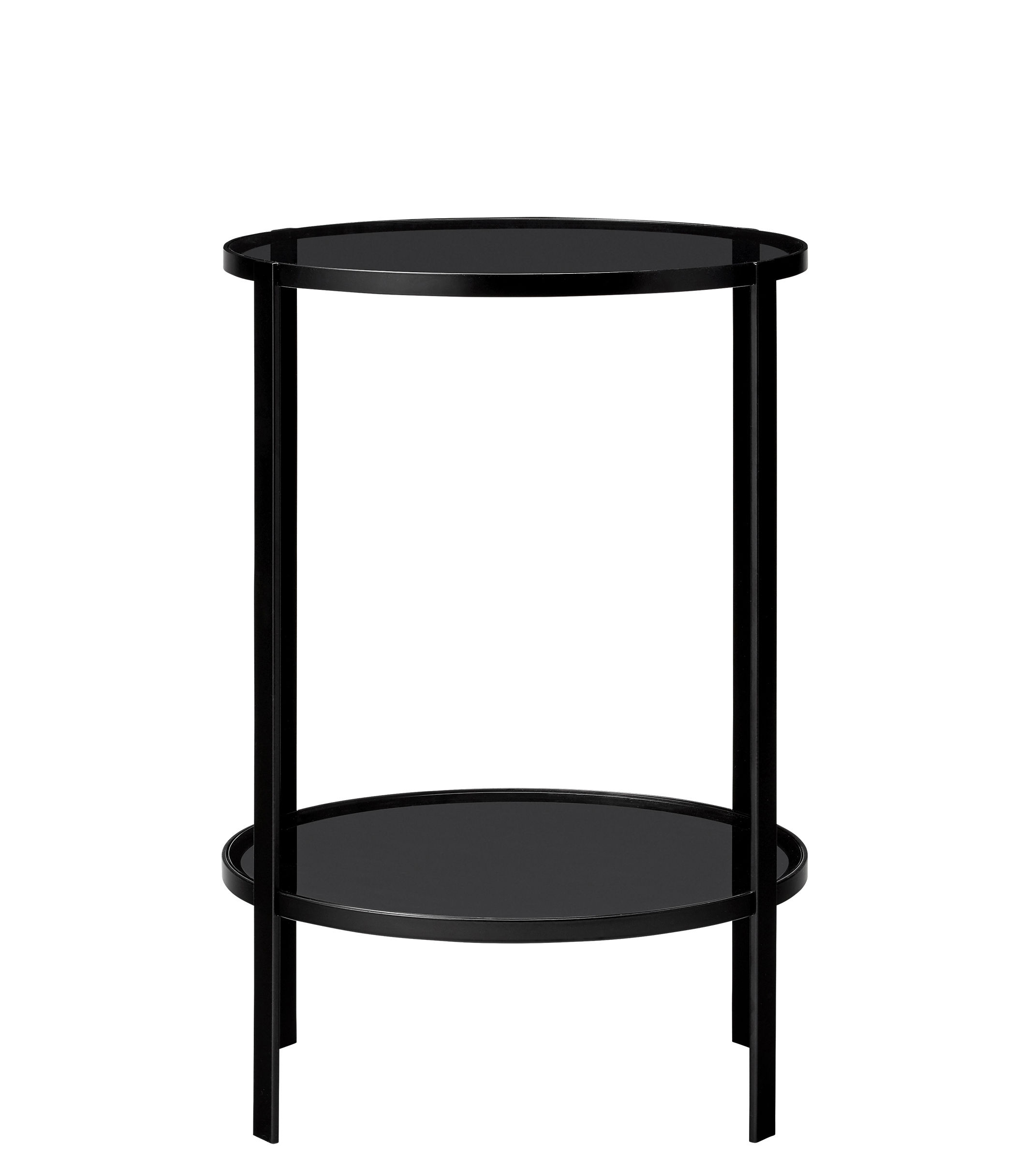 Table Metal Et Verre Fumi End Table Ø 40 X H 58 Cm By Aytm