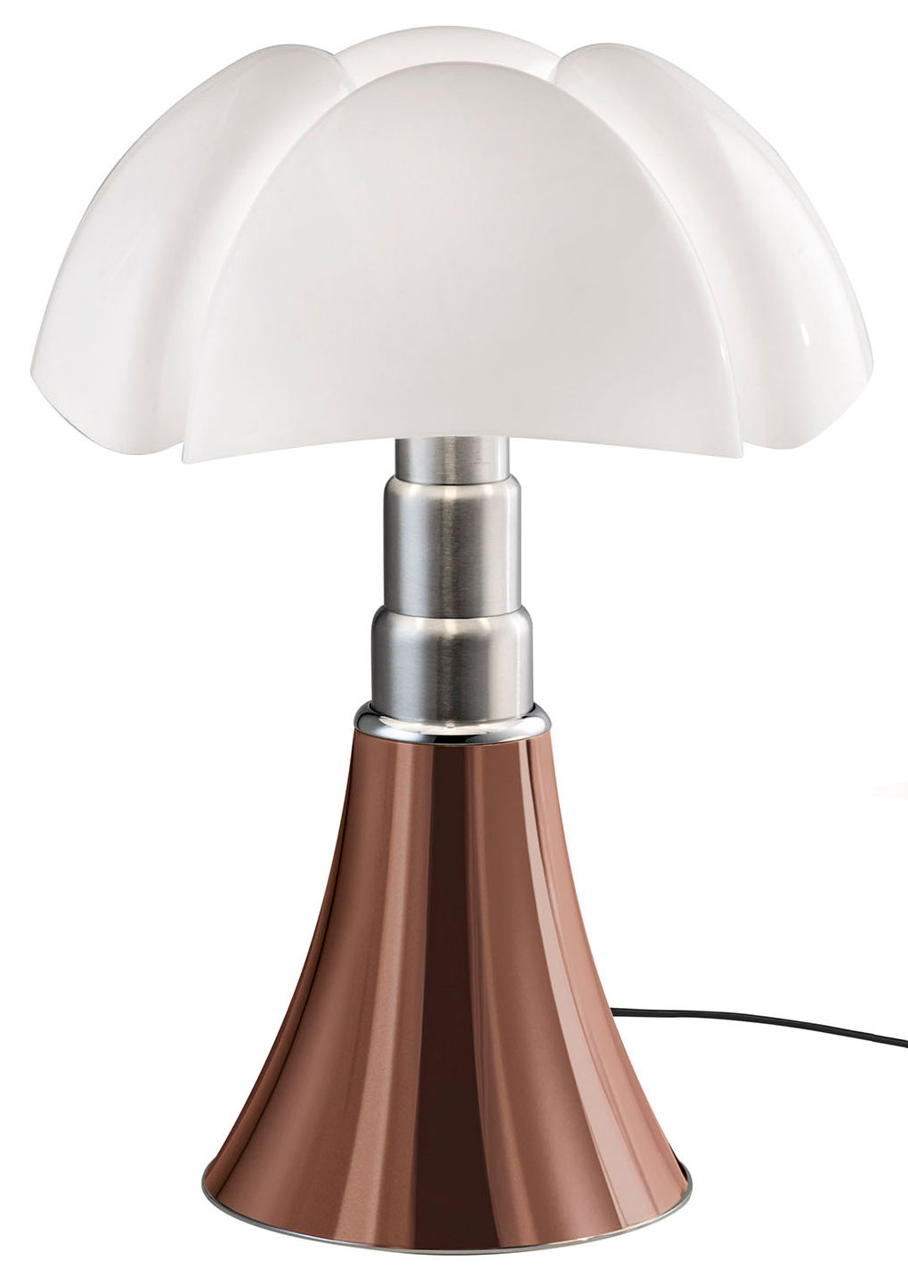 Lampe Cuivre Lampe De Table Pipistrello Led H 66 à 86 Cm Martinelli Luce