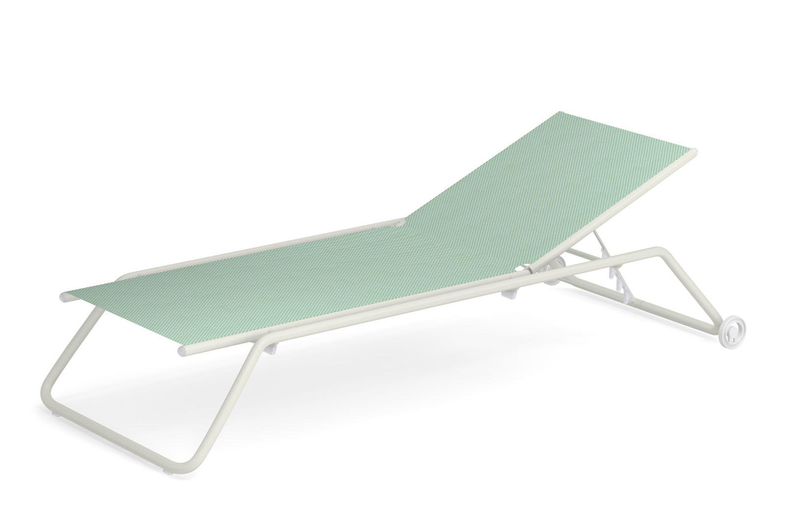 White Plastic Sun Loungers Snooze Multi Position Sun Lounger Stackable Casters By Emu