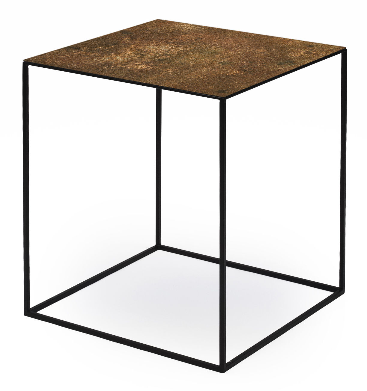 Table Basse Cuivre Table Basse Slim Irony Art 41 X 41 X H 46 Cm Zeus