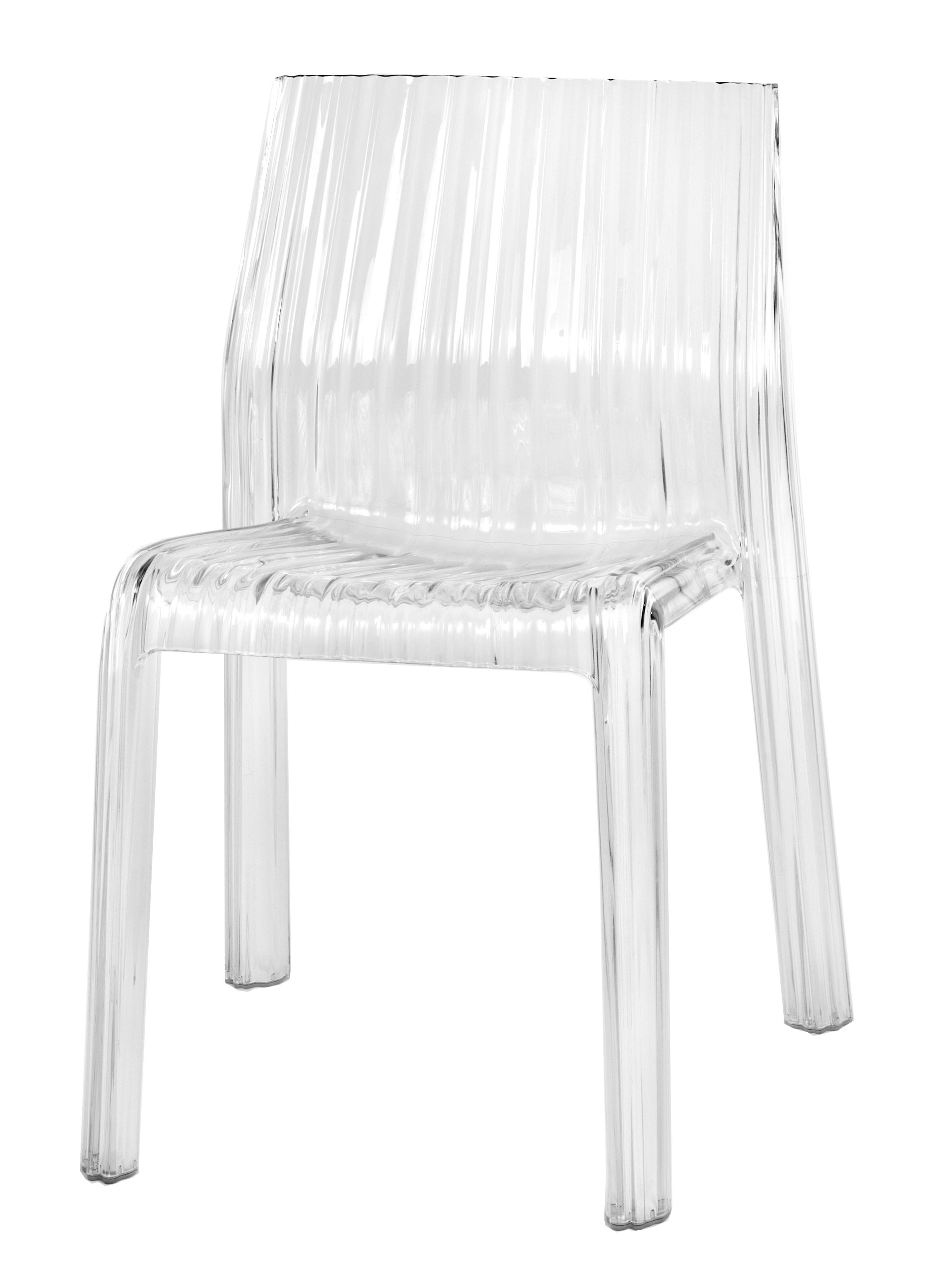 Chaise Cristal Chaise Empilable Frilly Transparente Polycarbonate Kartell