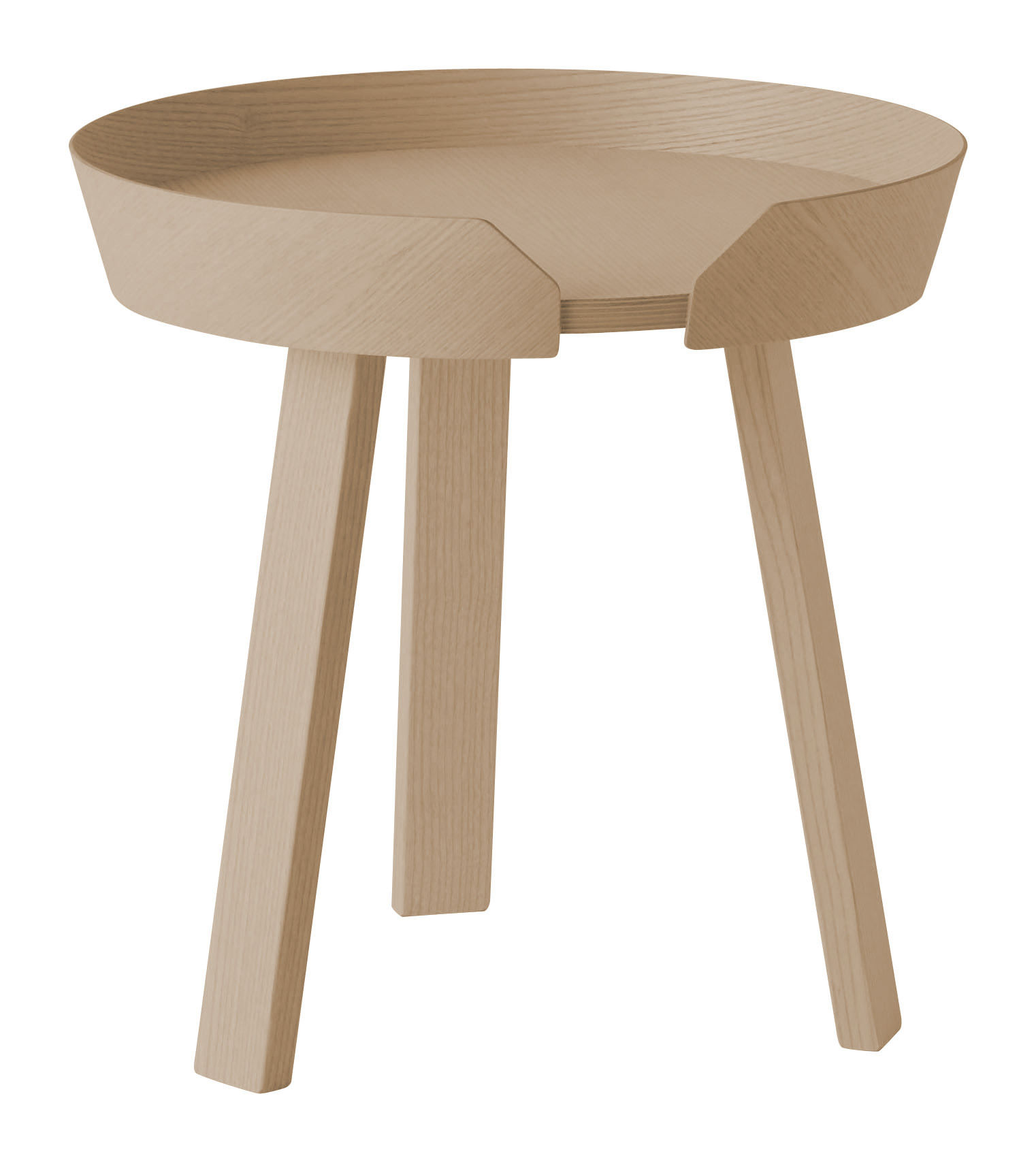 Made In Design Table Basse Table Basse Around Small Ø 45 X H 46 Cm Chêne Naturel